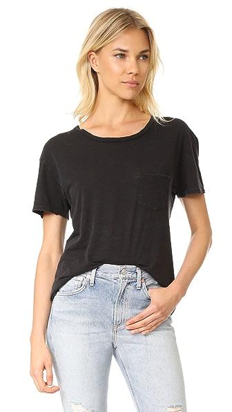 AGOLDE Eve Oversized Boxy T-Shirt - Vintage Black