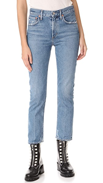 AGOLDE Cigarette Low Slung Straight Leg Jeans In Passenger