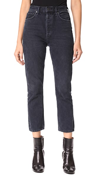 AGOLDE Riley High Rise Slim Crop Jeans - Hideaway