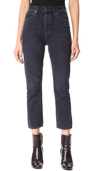 AGOLDE Riley High Rise Slim Crop Jeans In Hideaway