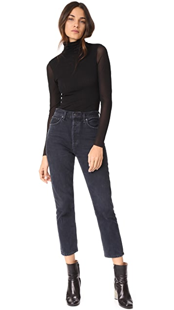 AGOLDE Riley High Rise Slim Crop Jeans