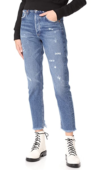 AGOLDE Jamie High Rise Classic Jeans - Lowdown