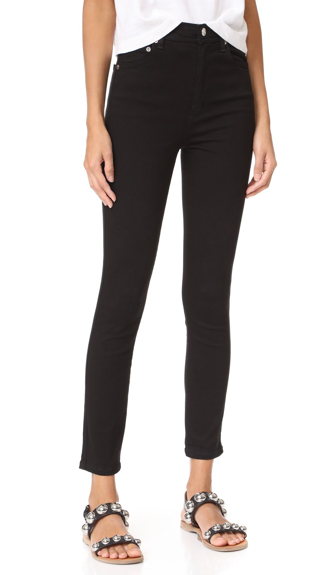 AGOLDE Roxanne Super High Rise Skinny Jeans In Jet