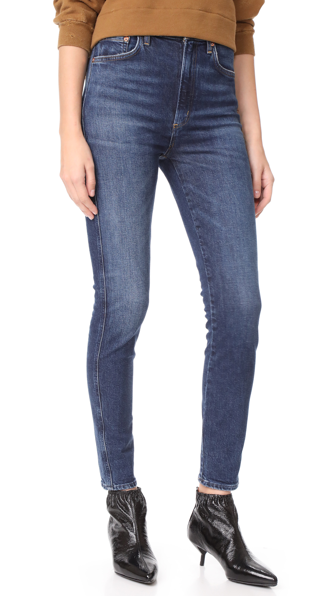 Buy AGOLDE online - photo of AGOLDE Roxanne Super High Rise Skinny Jeans