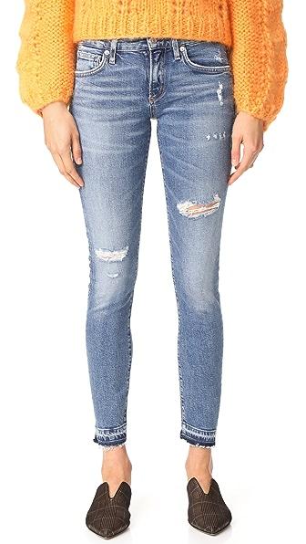 AGOLDE Lara Low Rise Skinny Jeans - Badlands