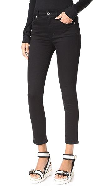 AGOLDE Sophie High Rise Skinny Crop Jeans - Jet