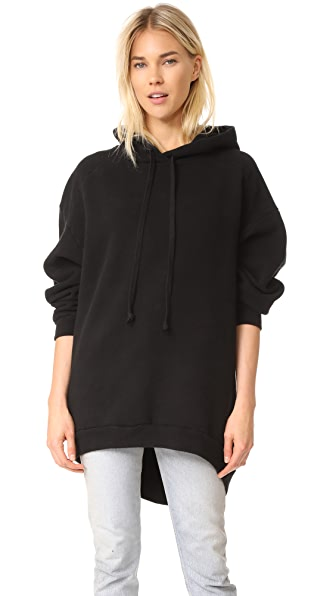 AGOLDE High Low Hoodie In Black
