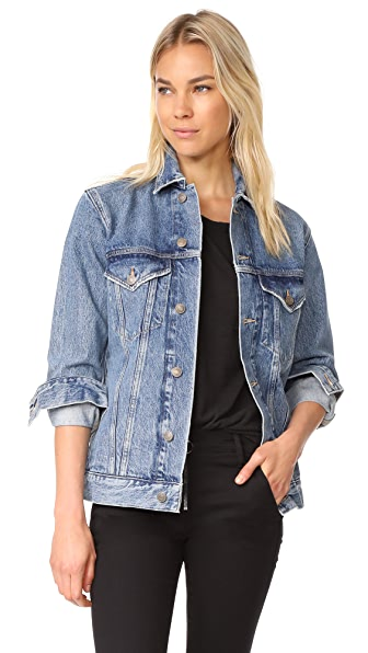 AGOLDE Jessie Oversized Denim Jacket In Revival