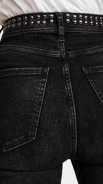 AGOLDE Roxanne Studded Skinny Jeans