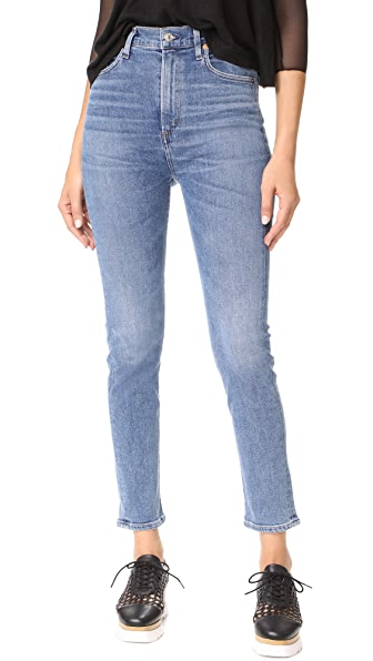 AGOLDE Ruby Super High Straight Crop Jeans - Adore