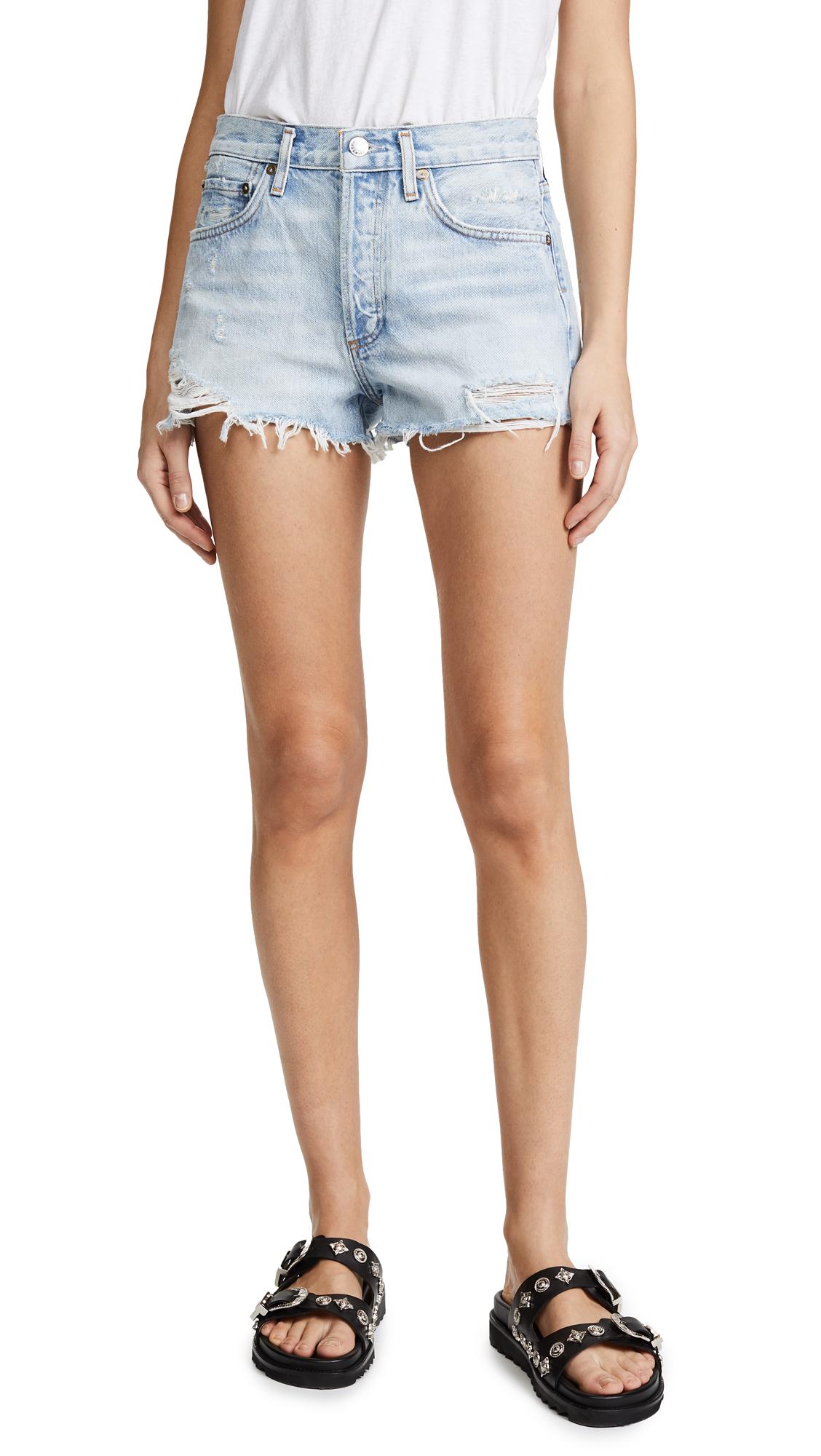 AGOLDE Parker Vintage Loose Fit Cutoff Shorts - Broken