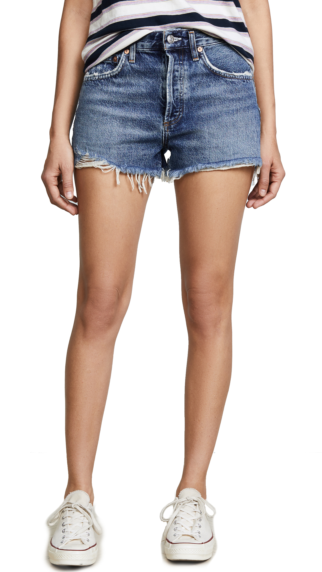 AGOLDE Parker Vintage Loose Fit Cutoff Shorts - Rock Steady