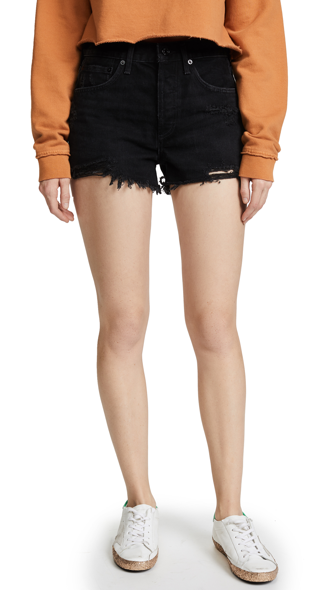 Parker Vintage Loose Fit Cut Off Shorts