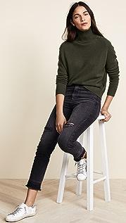 AGOLDE Прямые укороченные джинсы с высокой посадкой Ruby