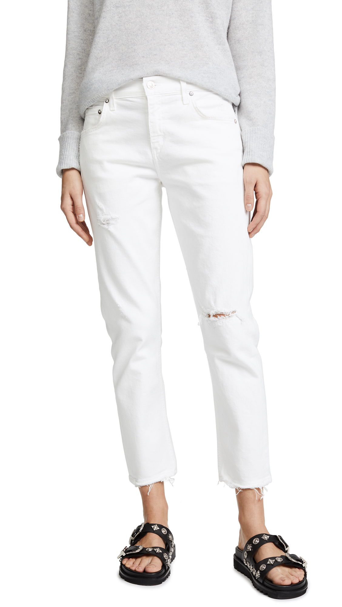AGOLDE The Isabel Mid-Rise Slim Straight Jeans In Prism