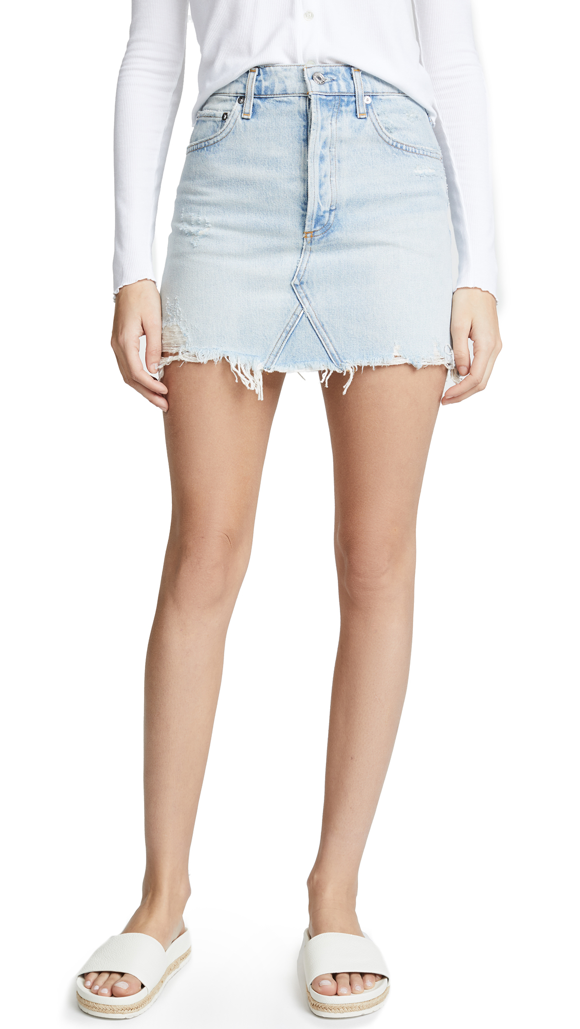 AGOLDE Quinn High Rise Mini Skirt In Vega