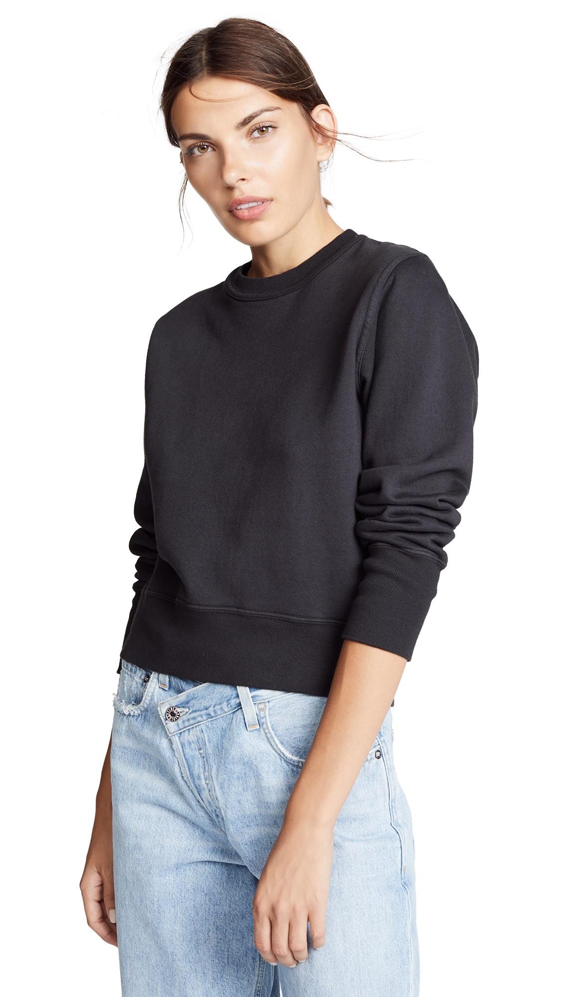 AGOLDE Shrunken Sweatshirt In Nocturne