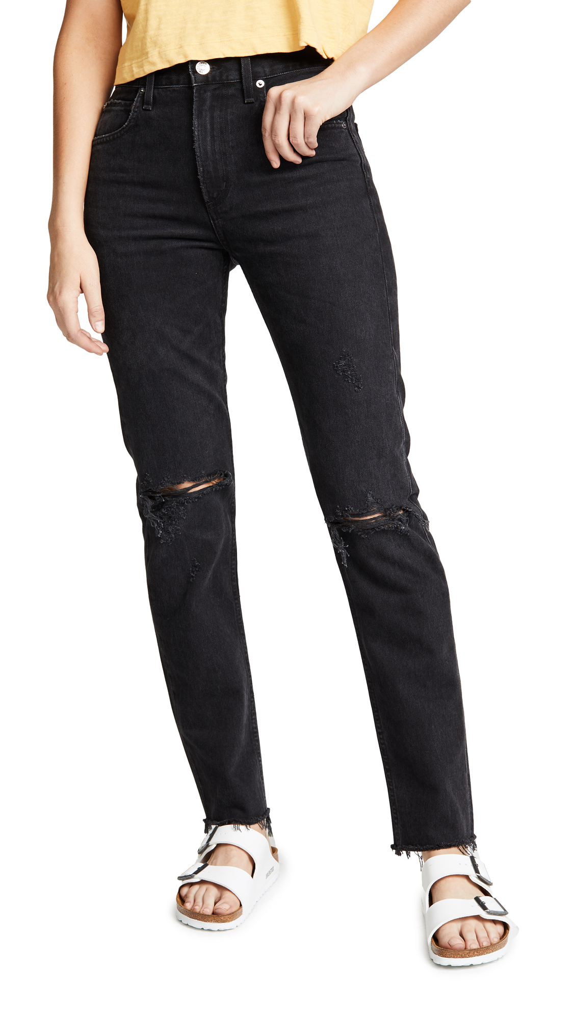 AGOLDE CHERIE HIGH RISE STRAIGHT JEANS
