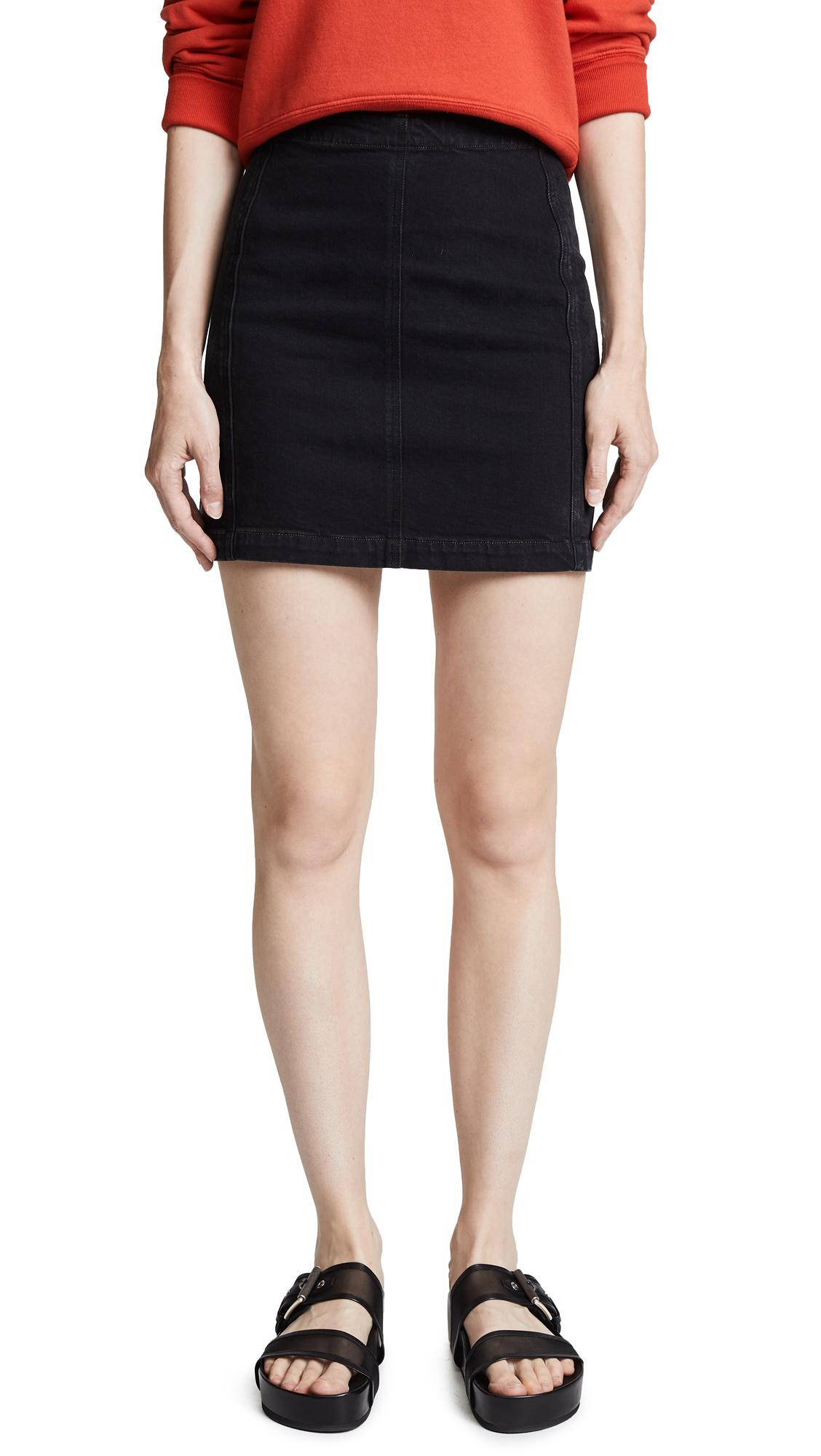 AGOLDE Aimee Zip Skirt In Asphalt