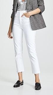 AGOLDE Прямые укороченные джинсы Riley с высокой посадкой