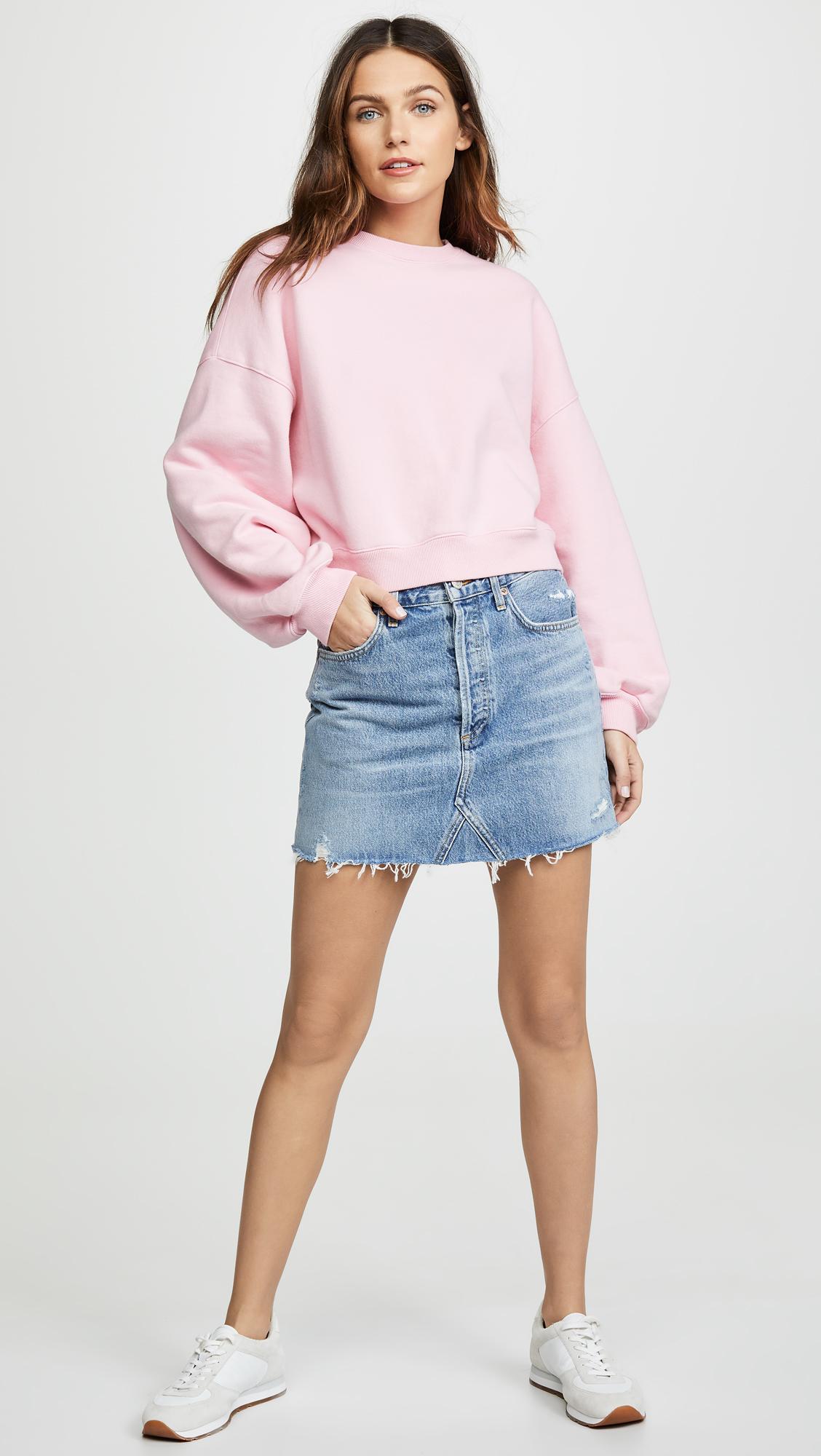 0e5ab2c09cb4 AGOLDE Hi Rise Quinn Miniskirt | SHOPBOP