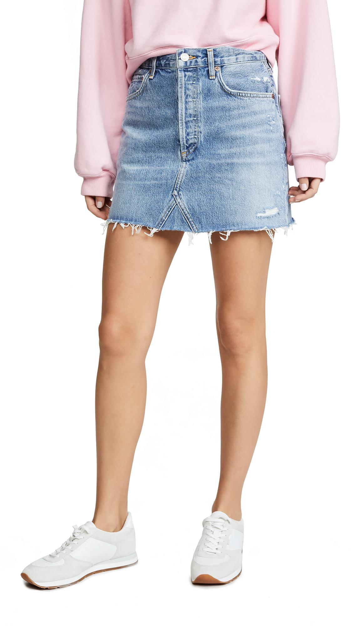 AGOLDE Hi Rise Quinn Miniskirt - Swapmeet