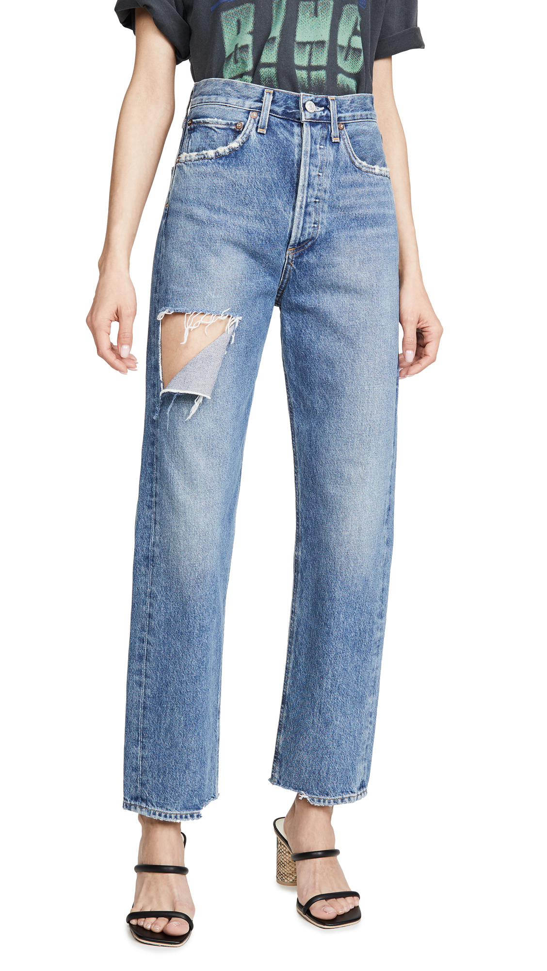 Buy AGOLDE online - photo of AGOLDE 90's Mid Rise Loose Fit Jeans