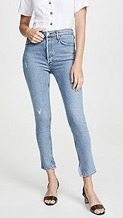 AGOLDE Узкие джинсы с высокой посадкой Nico
