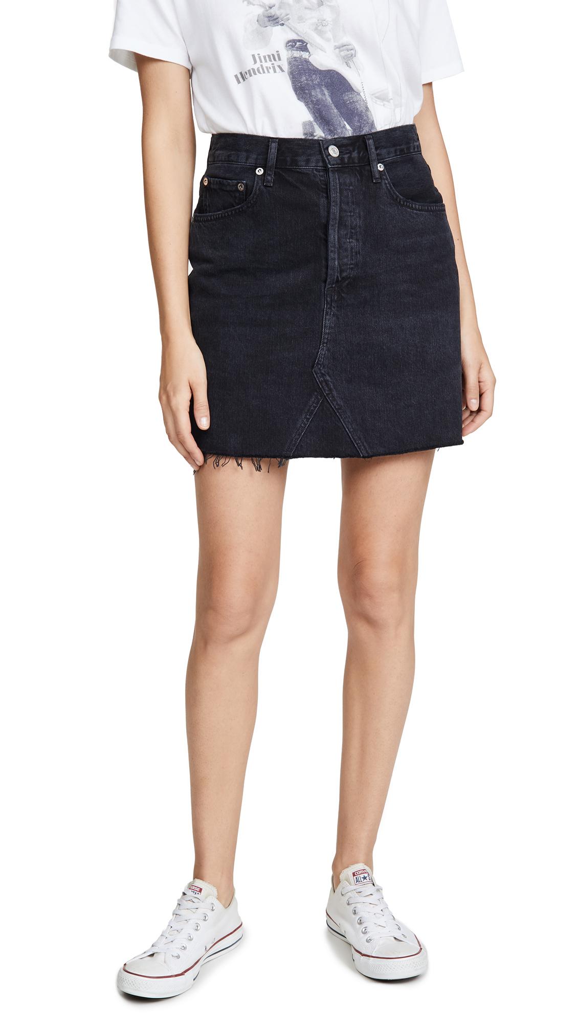 AGOLDE Ada Hi Rise Length Skirt - Pose