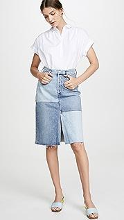 AGOLDE Длинная юбка Issa с разрезом и высокой посадкой