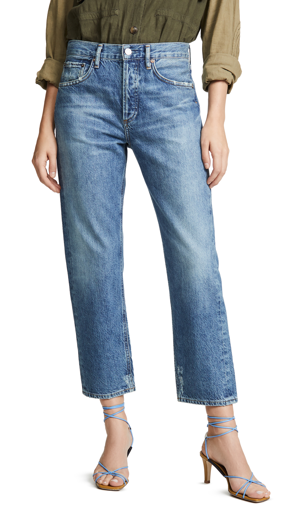 AGOLDE Parker Easy Straight Jeans - Evade