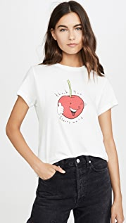 AGOLDE Thank You Cherry Much Baby Tee