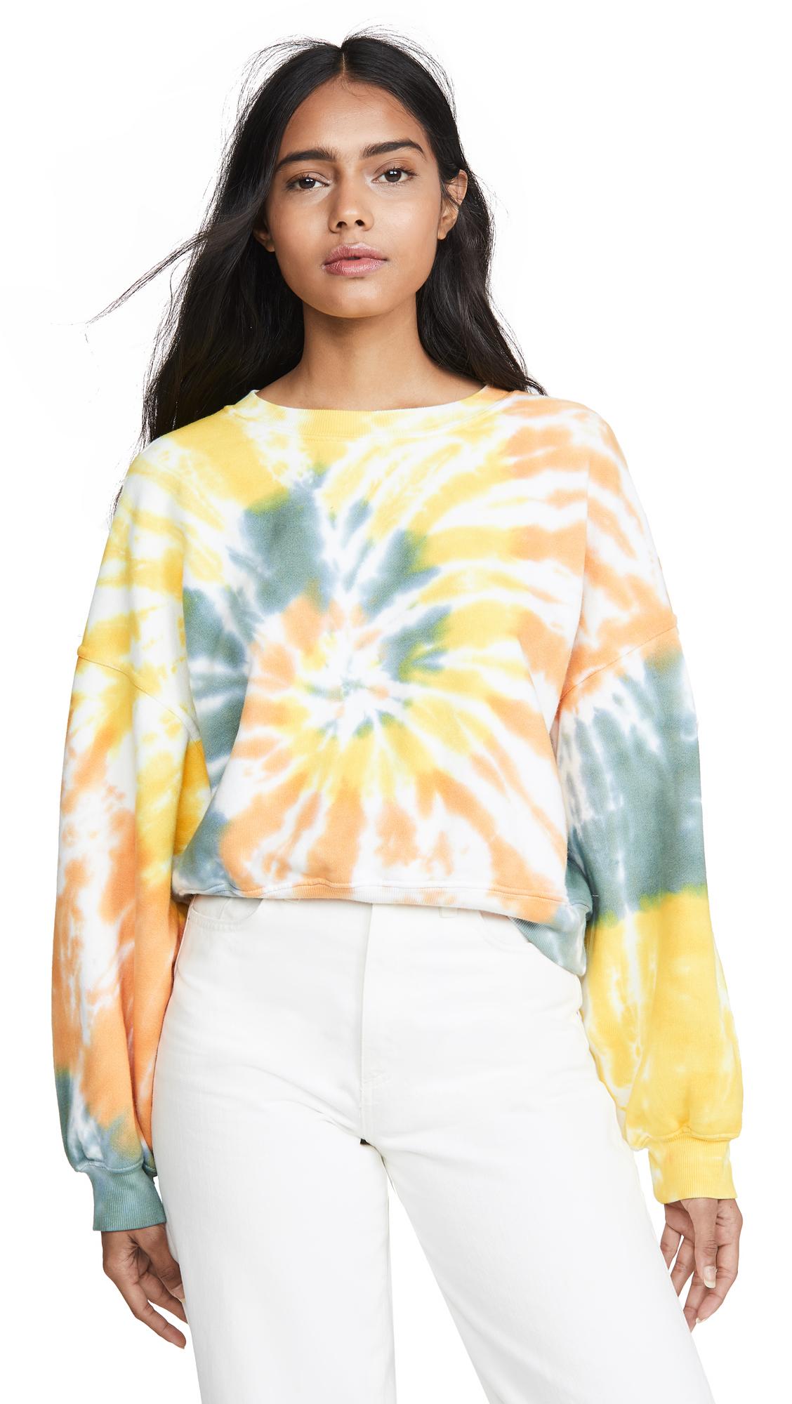 AGOLDE Balloon Sleeve Sweatshirt - Swirled