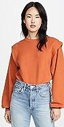 AGOLDE '80s Pleated Shoulder Sweatshirt