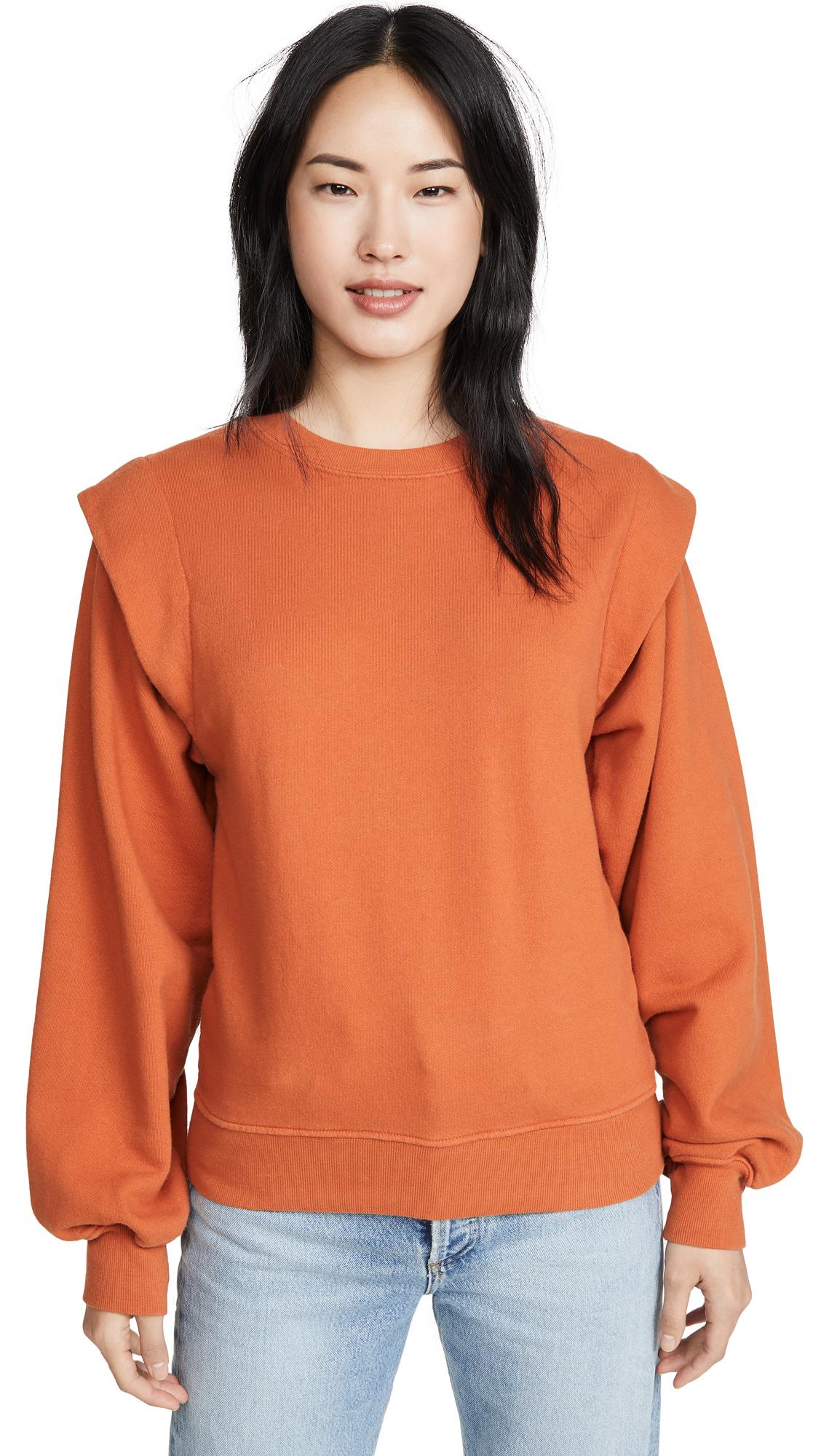 Buy AGOLDE online - photo of AGOLDE '80s Pleated Shoulder Sweatshirt