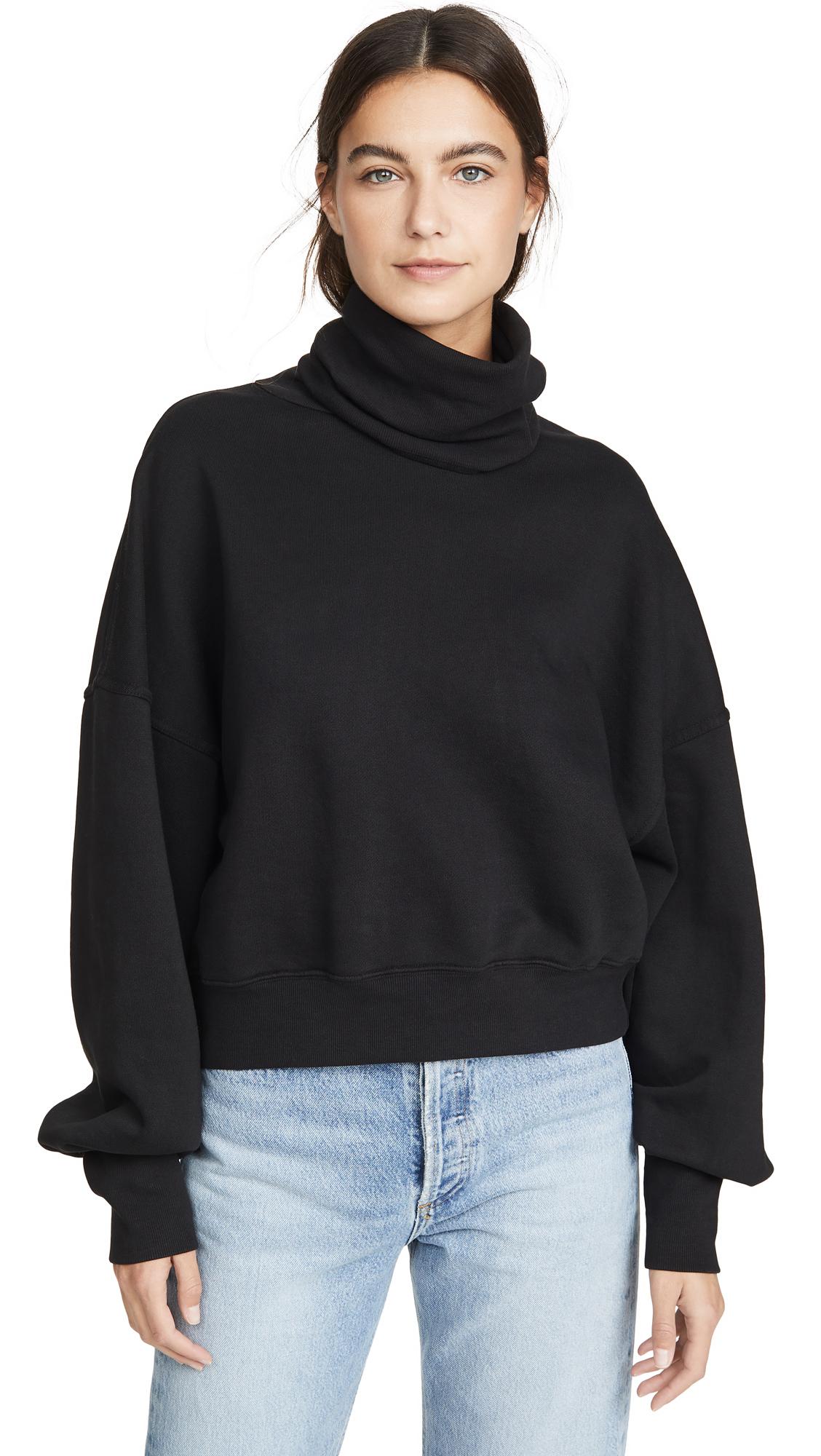 Buy AGOLDE online - photo of AGOLDE Balloon Sleeve Turtleneck Sweater