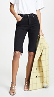 AGOLDE Carrie Long Length Slim Shorts
