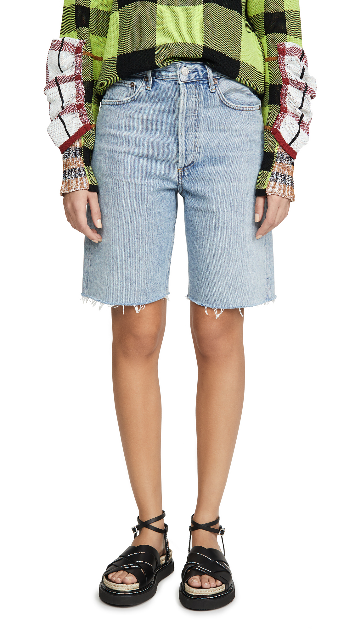 Buy AGOLDE online - photo of AGOLDE Mid Rise 90's Loose Shorts