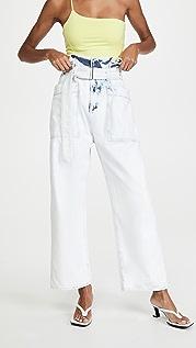 AGOLDE Aden 纸包实用长裤