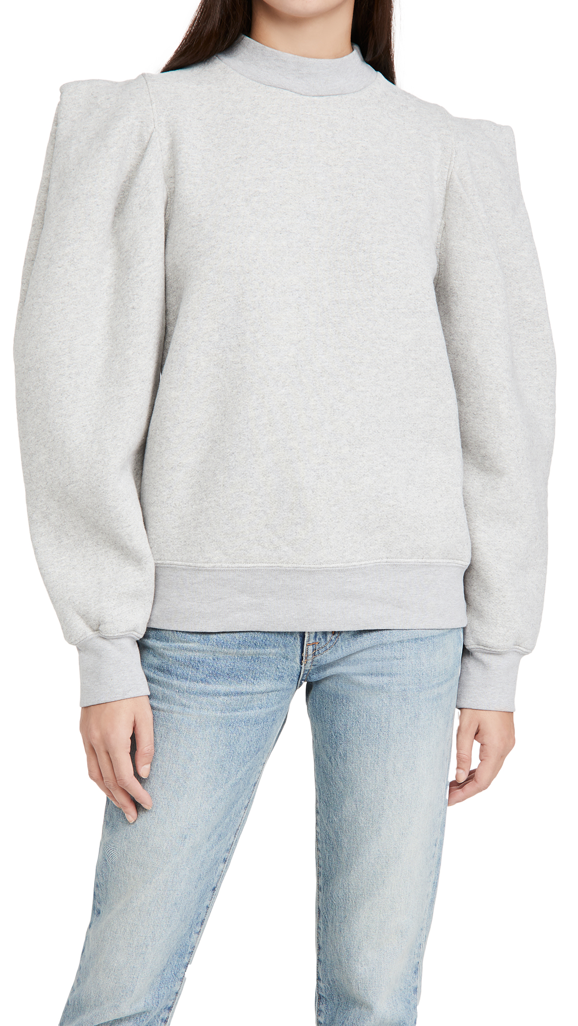 Agolde FOLDED SLEEVE SWEATSHIRT