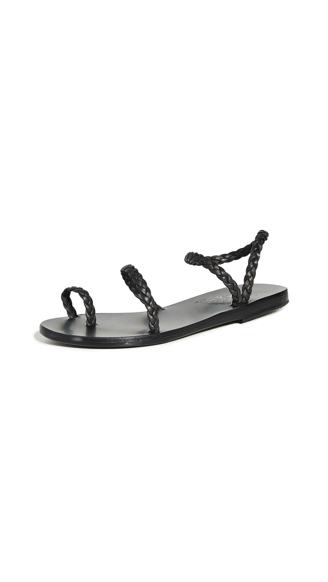 Ancient Greek Sandals Eleftheria Sandals - Black