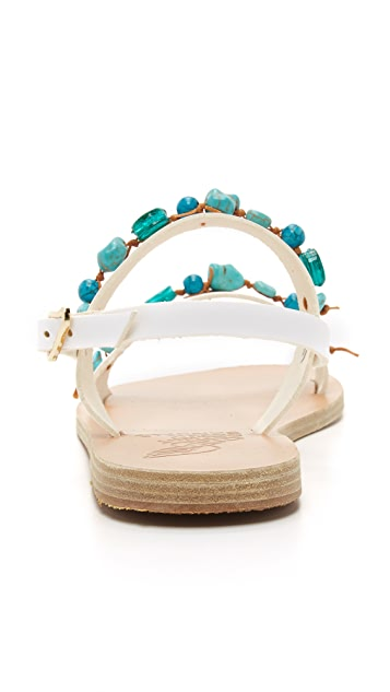 Ancient Greek Sandals Clio Beaded Sandals