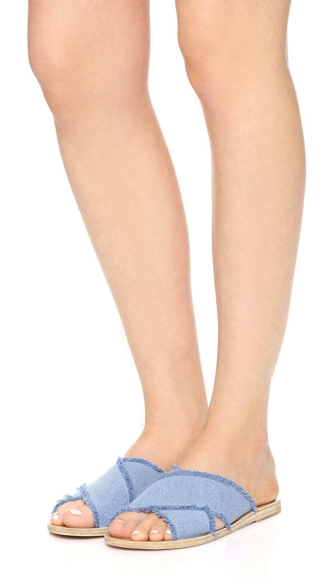 5dde614d43a6 Ancient Greek Sandals Thais Denim Slides