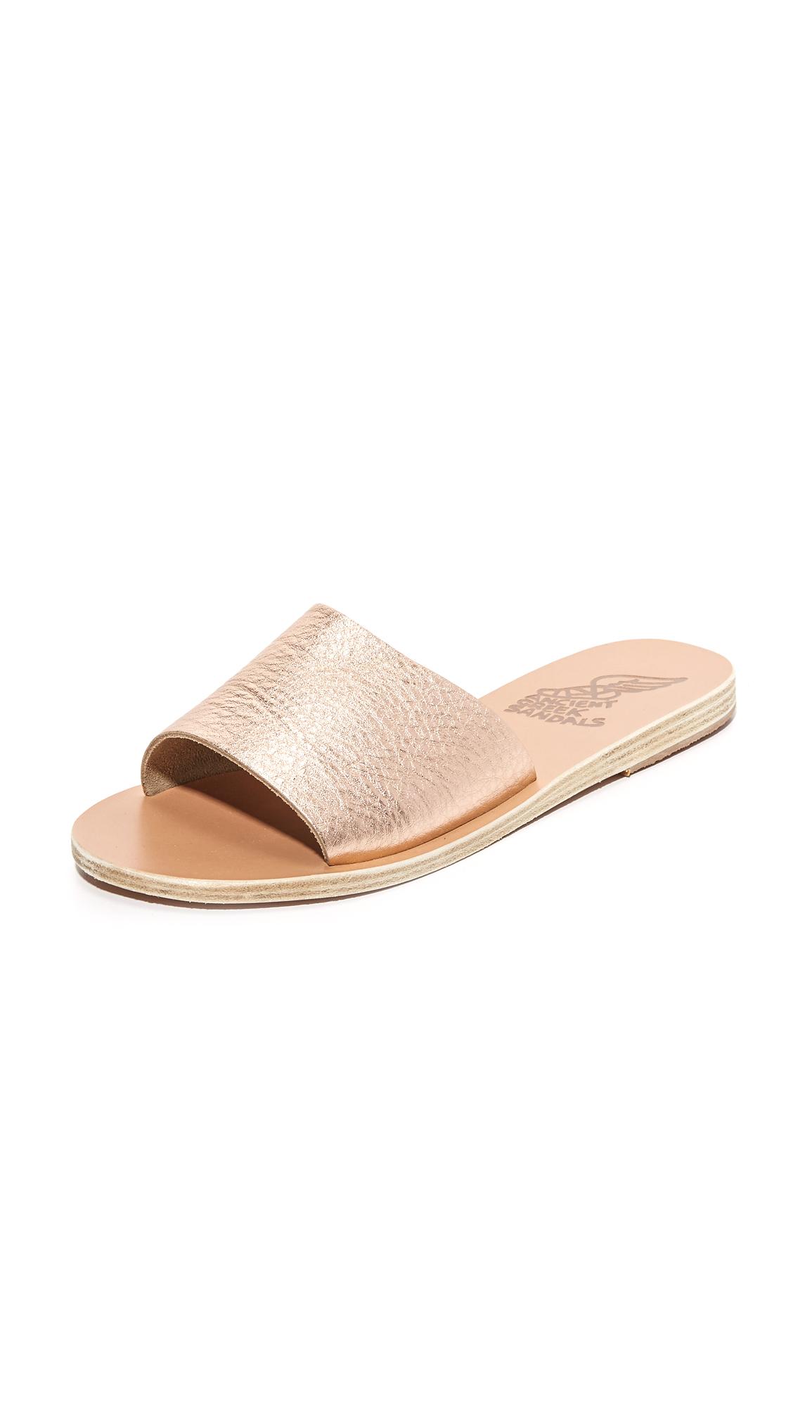 Ancient Greek Sandals Taygete Slide Sandals - Pink Metal/Sand at Shopbop