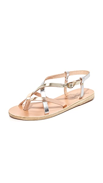 Ancient Greek Sandals Semele Sandals - Pink Metal/Silver/Platinum