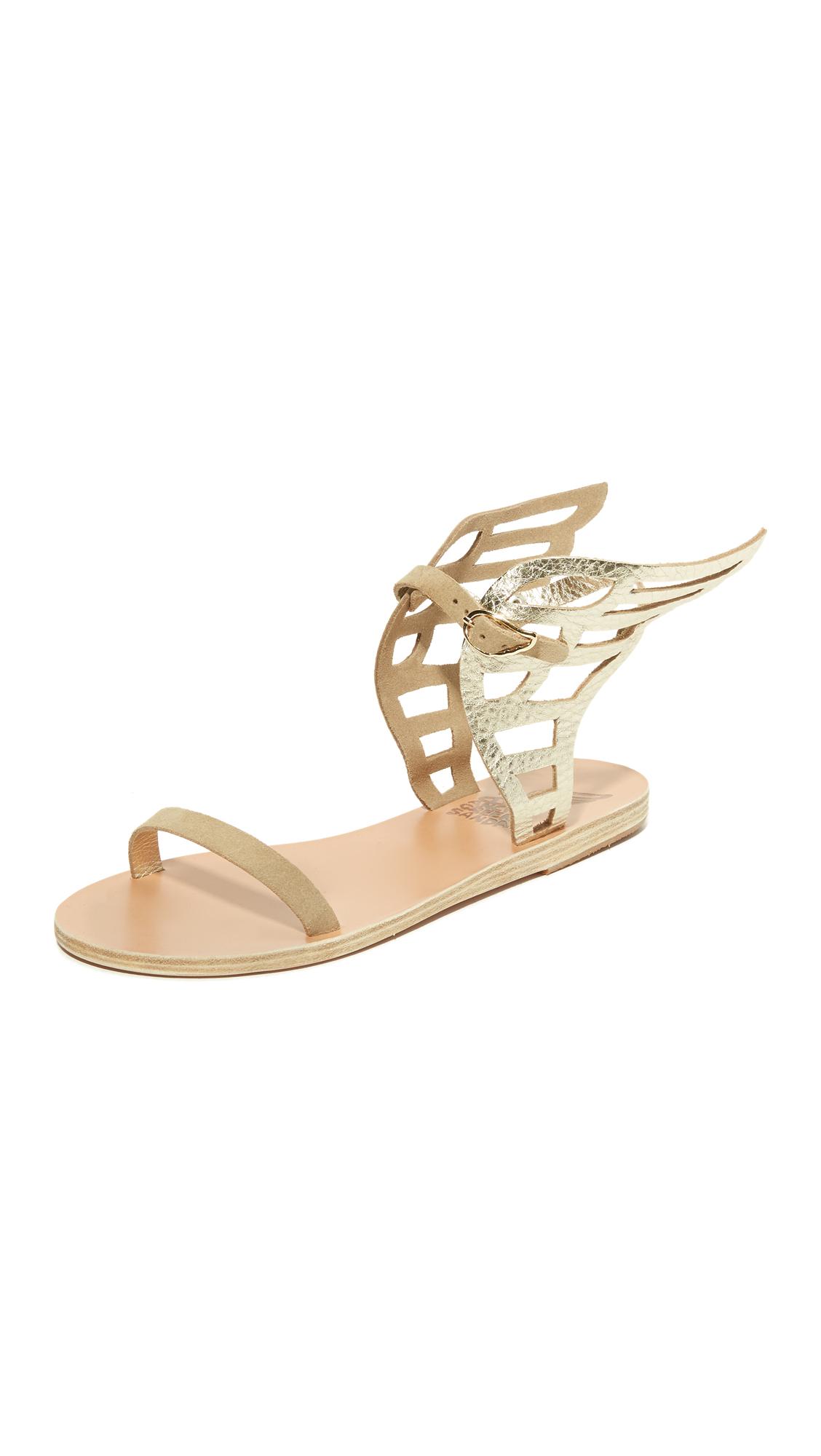Ancient Greek Sandals Ikaria Lace Sandals - Platinum at Shopbop