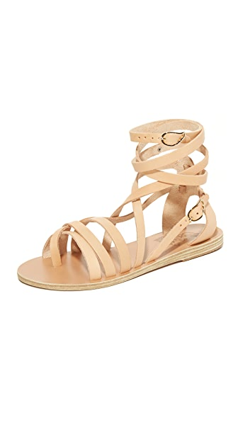 Ancient Greek Sandals Satira Wrap Sandals - Natural