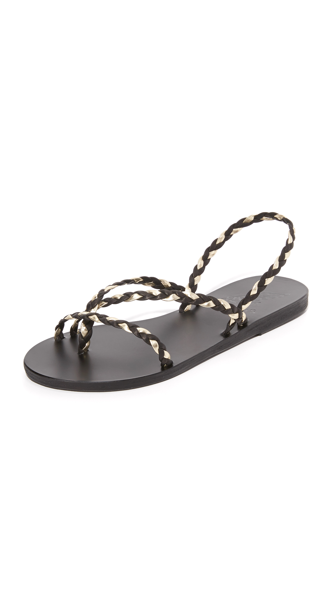 Ancient Greek Sandals Yianna Sandals - Black/Platinum