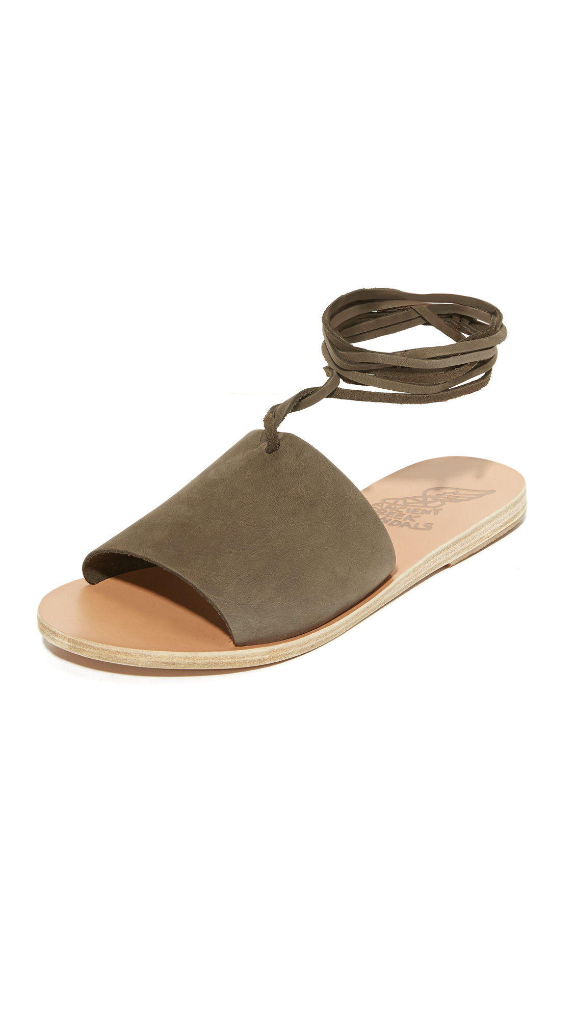 Ancient Greek Sandals Christina Wrap Sandals - Khaki at Shopbop