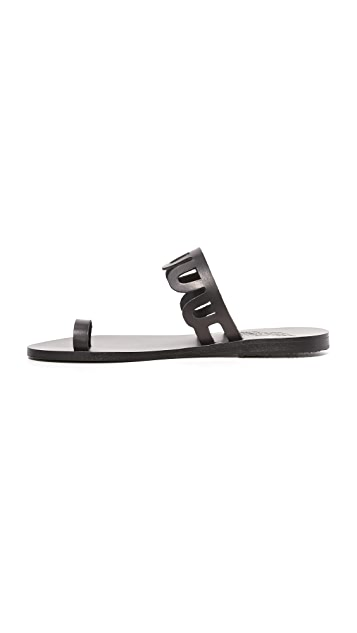 Ancient Greek Sandals Venus Toe Ring Slides